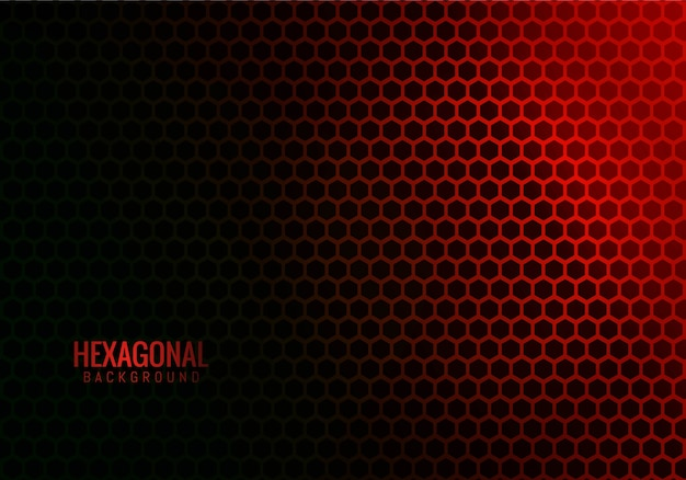 Abstract hexagonal technology red