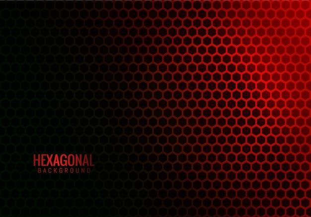 Абстрактный гексагональной технологии красный