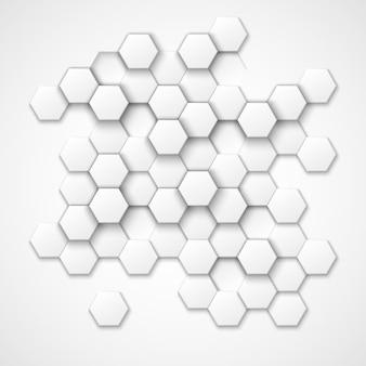 抽象的な六角形のベクトルの背景。六角形、幾何学的な六角形のパターン、テクスチャ六角形、装飾六角形のイラスト