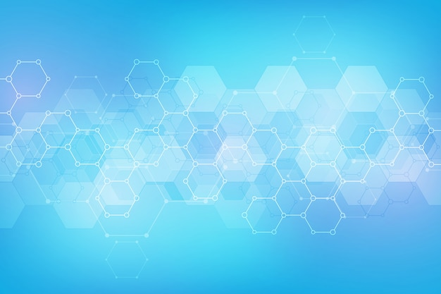 Abstract hexagons pattern