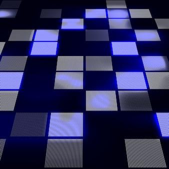 Абстрактный привет технологий синий фон в перспективе. футуристический фон цифровых технологий.