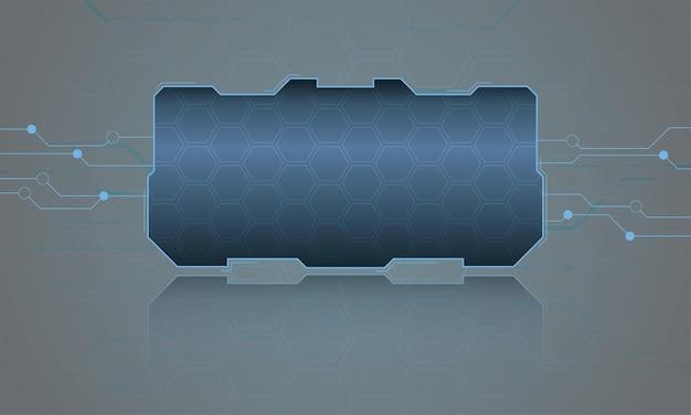 추상 하이파이 디지털 미래 프레임 벡터 기술 템플릿 그림