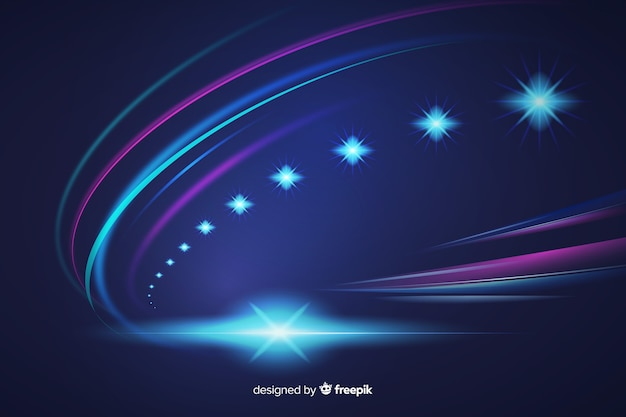 Abstract high speed lights trail background