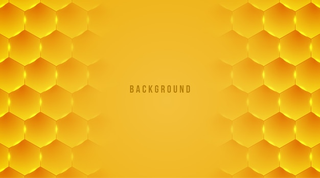 Abstract honey hexagon background