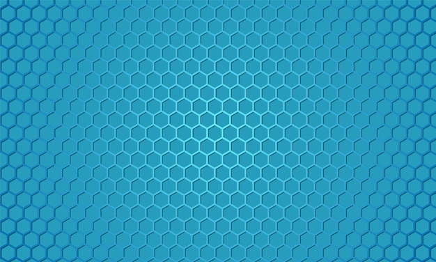 Abstract honeycomb background with blue carbon fiber.