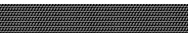 Abstract horizontal banner or background of small isometric cubes in gray colors.