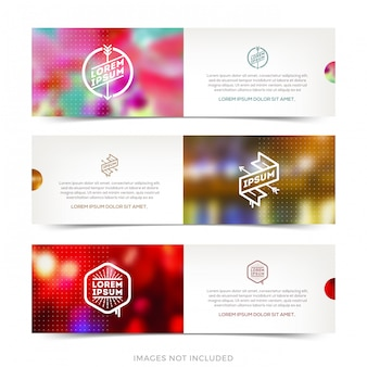 Abstract  horizontal banners.