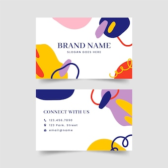 Abstract horizontal business card template