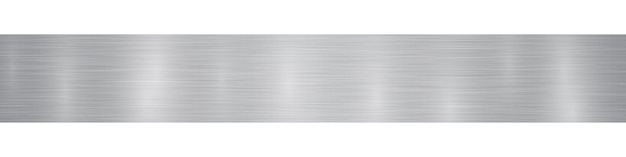 Abstract horizontal metal banner or background with glares in gray colors