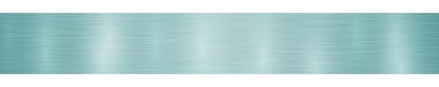밝은 파란색 색상의 눈부심이 있는 추상 수평 금속 배너 또는 배경