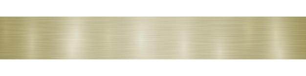 밝은 황금색의 눈부심이 있는 추상 수평 금속 배너 또는 배경