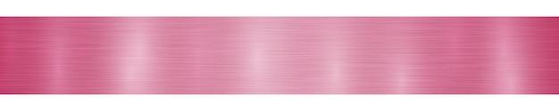 赤い色のまぶしさのある抽象的な水平方向の金属のバナーまたは背景