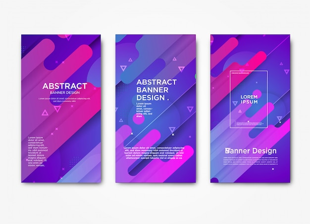 Abstract horizontal modern web banner template with gradient