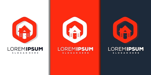抽象的な家のロゴのテンプレート