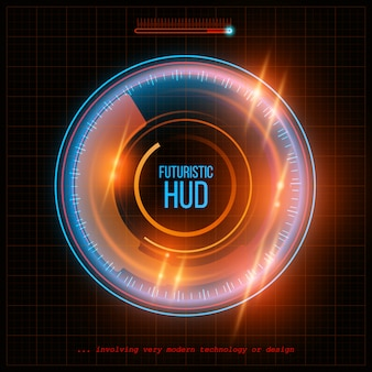 Abstract hud futuristic background