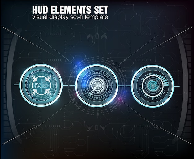 Abstract hud.  illustration for your . technology background.