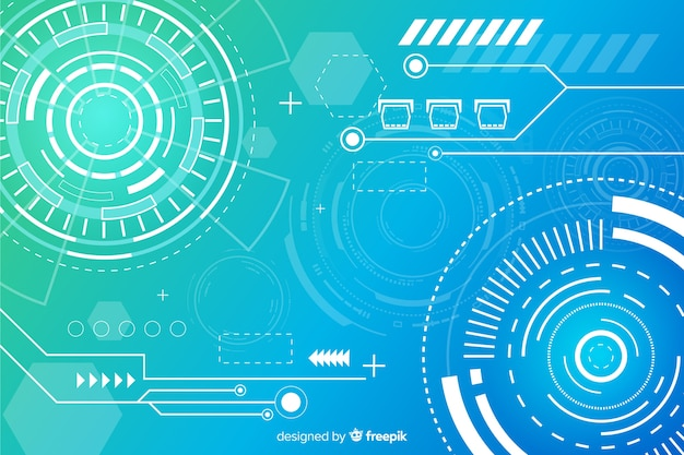 Abstract hud technology background design