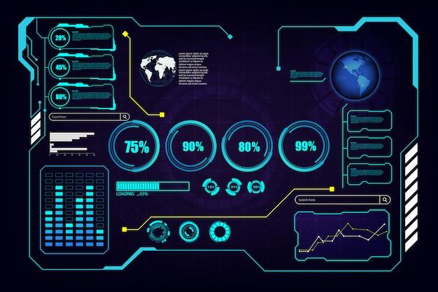 Abstract hud ui gui future futuristic screen system virtual background