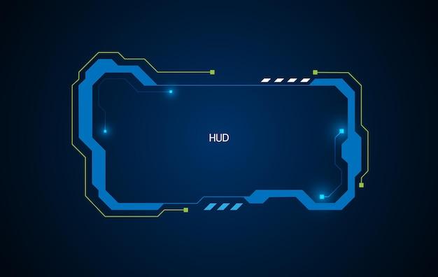 Абстрактный виртуальный дизайн футуристической экранной системы hud ui gui будущего. векторная иллюстрация eps10