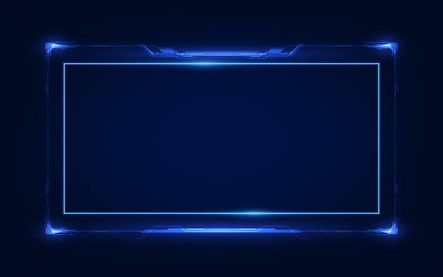 抽象的なhud ui gui未来の未来的なスクリーンシステムの仮想設計