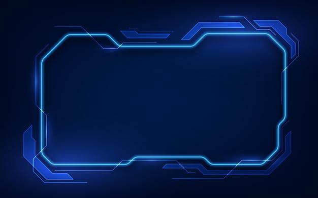 抽象的なhud ui gui未来の未来的な画面システムの仮想デザイン