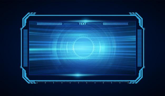 抽象的なhud ui gui未来の未来的な画面システムの仮想設計