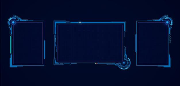 Абстрактная виртуальная футуристическая экранная система hud ui gui