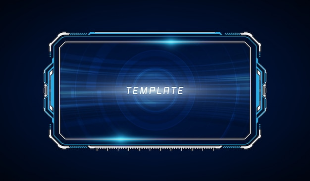 Abstract hud ui gui future futuristic screen system virtual