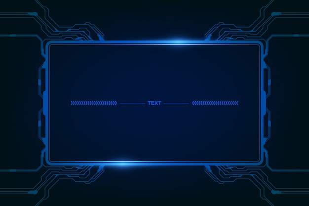 Abstract hud ui gui future futuristic screen system