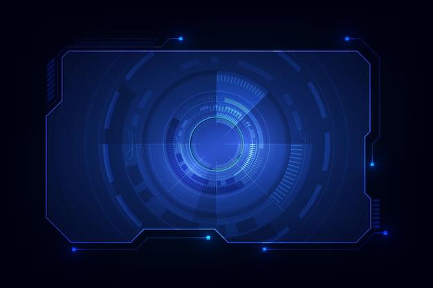 Абстрактная футуристическая экранная система hud ui gui