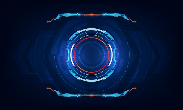 Abstract hud ui virtual sci fi interface background