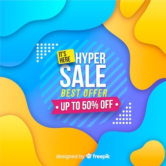Abstract hyper sales promotion