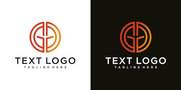 頭文字gdgdアイコンロゴデザインテンプレートの抽象的なアイコン