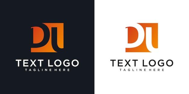 文字dduアイコンロゴデザインテンプレートの抽象的なアイコン