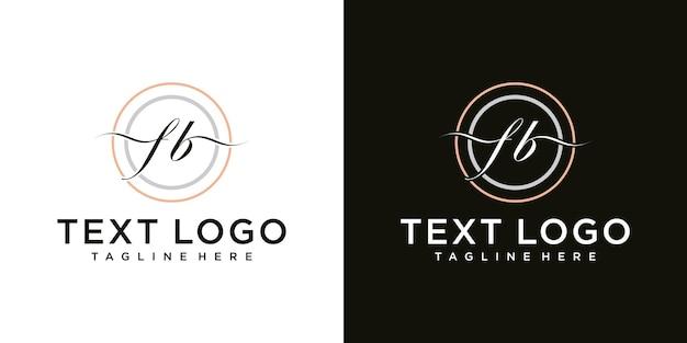 文字fbアイコンロゴデザインテンプレートの抽象的なアイコン