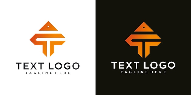 Abstract icons for letter t icon logo design template