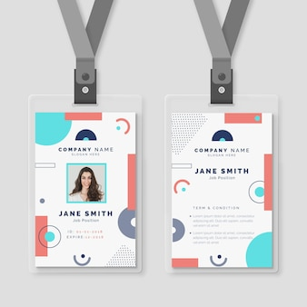 Abstract id card concept