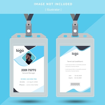 Abstract id card design