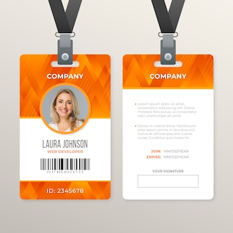 Abstract id card style