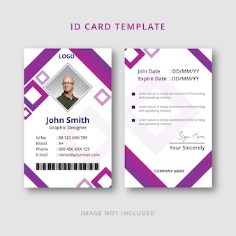 Abstract id card stylish template