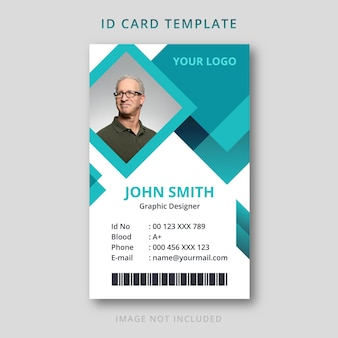 Abstract id card template one side