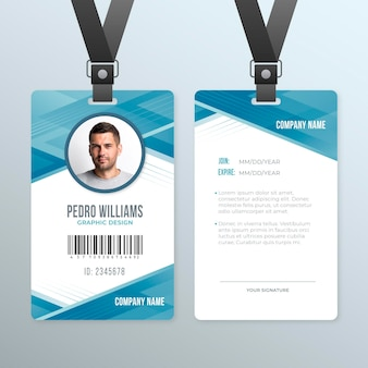 Abstract id card template theme