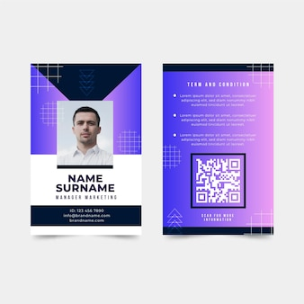 Abstract id card theme