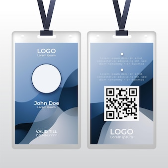 Abstract id card with photo space