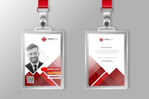 Abstract id cards for company stuff