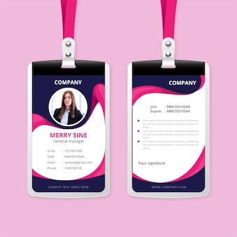 Abstract id cards concept