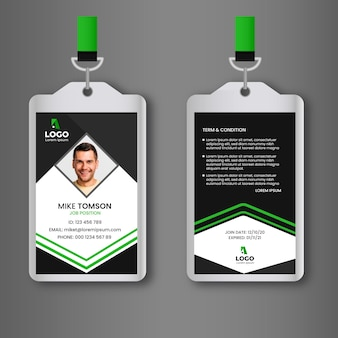 Abstract id cards front and back