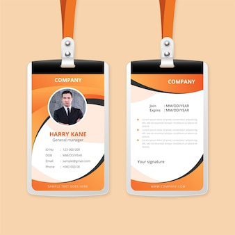 Abstract id cards style