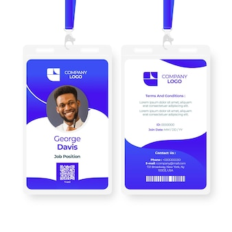 Abstract id cards template with image