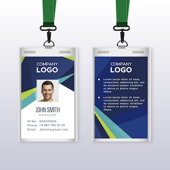 Abstract id cards template with picture